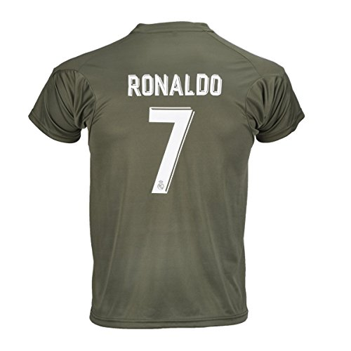 #7 Ronaldo Real Madrid Away Kid Soccer Jersey & Matching Shorts Set 2016-17,GK,Youth XL (12 to 13 Years Old)