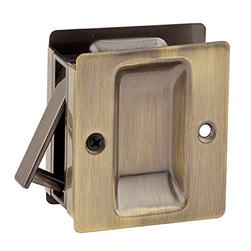 Kwikset 332 Notch Hall/Closet Pocket Door Lock in Antique Brass ()