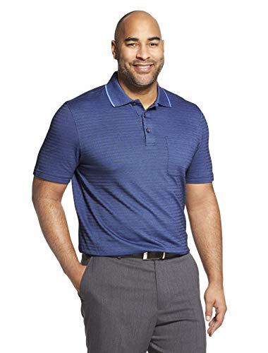 - Van Heusen Men's Flex Short Sleeve Stretch Stripe Polo Shirt, Blue Underground, XX-Large