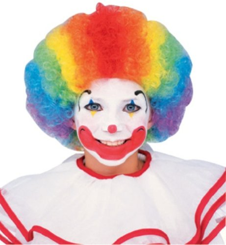 [Clown Wig, Multi-color] (Women's Clown Wig)