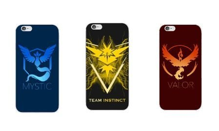 Official Pokemon Go Emblem (Team Valor, Mystic and Instict) IPhone 6 6S Cases (Valor (Red))