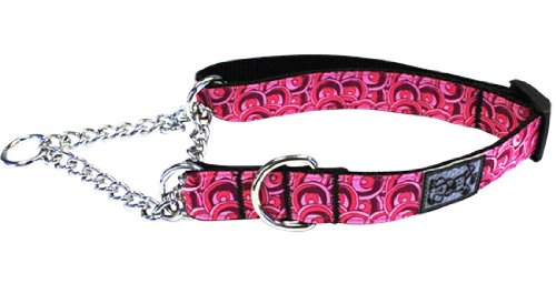 Cheap RC Pet Products 1-Inch Training Martingale Collar, Large, Roses