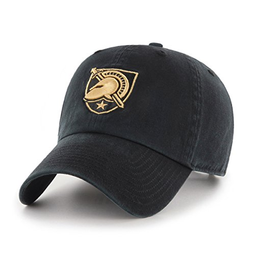 Ncaa Black Cap (OTS NCAA Army Black Knights Challenger Clean Up Adjustable Hat, Black, One Size)
