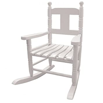 Powell Craft Childs Rocking Chair In White