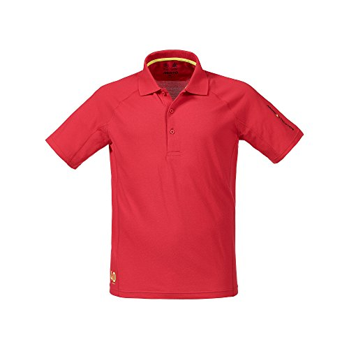 Musto Evolution Sunblock Short Sleeved Polo Top in TRUE RED SE0264