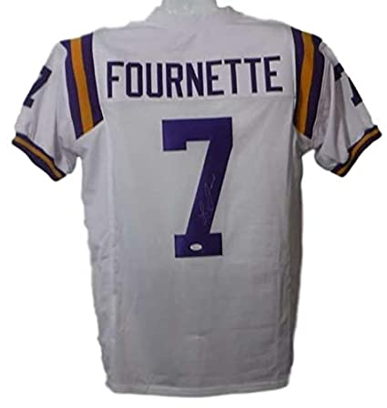 half off 12fb6 62acc Leonard Fournette Autographed/Signed LSU Tigers XL White ...