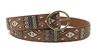 Lucky Brand Women's Beaded Leather Belt
