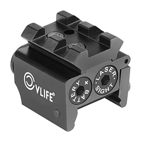 CVLIFE Mini Red Dot Gun Sight Laser with Rail Mount for Pistol Handgun Low Profile Rifle