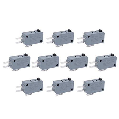 uxcell 10 Pcs G5T16-E1Z200 Universal Microwave Door Oven Freezer Micro Switch Series AC/DC 125V (Microswitch Door)