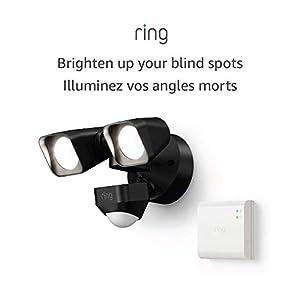 Introducing Ring Smart Lighting – Floodlight, Wired – Black (Starter Kit)