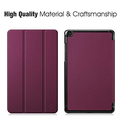 Fintie SlimShell Case for Samsung Galaxy Tab A 8.0 2019 Without S Pen Model (SM-T290 Wi-Fi, SM-T295 LTE), Ultra Thin Lightweight Tri-Fold Stand Cover, Purple
