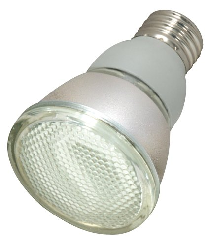 Satco S7207 11-Watt Medium Base PAR20, 2700K, 120V, Equivalent to 50-Watt Incandescent Lamp with U.L. Wet Location Listed ()