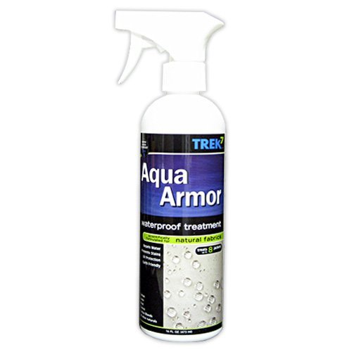 Trek7 Aqua Armor Fabric Waterproofing Spray for Natural Fabrics, 16 Oz by Trek7