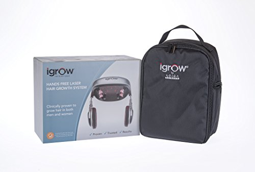 iGrow Hands-Free Laser LED Light Therapy Hair Regrowth Rejuvenation System - Travel Package by iGrow