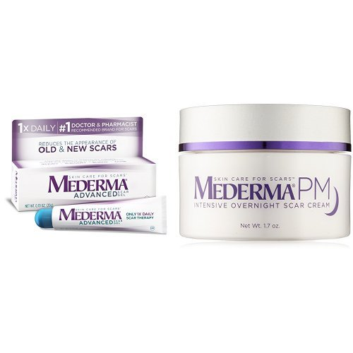 Mederma Advanced Scar Gel With Pm Intensive Overnight Scar Cream