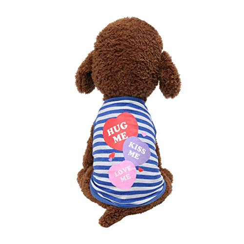 - OUBAO Pet Clothes, Dog Vest Tanks Tops Tees Blouses Shirts for Puppy Dress Skirt Romper Bodysuit for Pet Cats Dogs Fashion Love Print Vest Cat Clothing