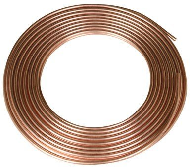 MUELLER 1/2X60K Soft Type K Coil Tubing, 1/2 In, 60 Ft L, x 60', Copper