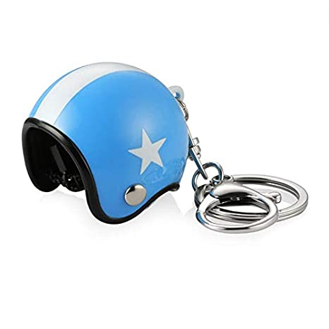 XuBa - Llavero 3D para coche, moto, bicicleta, casco, Weißer ...