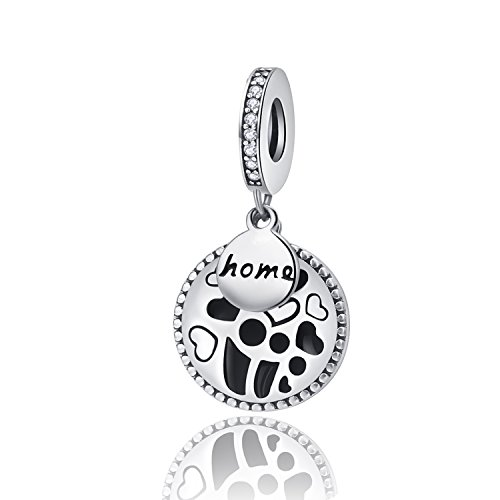 (XingYue Jewelry 925 Sterling Silver Love Family Mom & Baby Home Dangle Charms Sweet Home Charms Fit Snake Chain Bracelets)