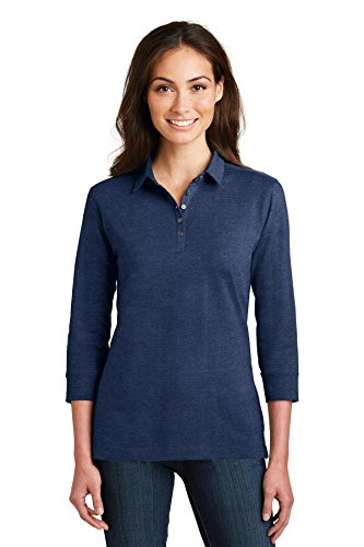 Port Authority Ladies 3/4-Sleeve Meridian Cotton Blend Polo-L578-3XL