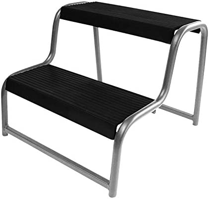 Escalera plegable de metal, 44 x 18 x 39 cm, para caravana, casa, etc.: Amazon.es: Hogar