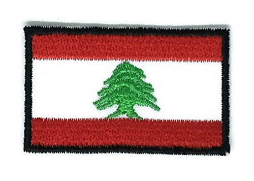 2 x 1.3 inches Lebanon Flag Patch Sew Iron on Embroidered Badge Symbol - Lebanon Online Buy