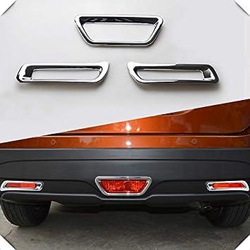 Bremslicht hinten f/ür SX4 S-cross Nebelschlu/ßleuchte Abdeckung brake light Styling Nebelscheinwerfer Zubeh/ör 2014-2018 3 pc