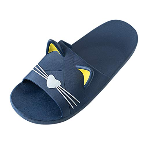 Men&Women Home Indoors Slippers - Cartoon Cat Floor Family Shoes Beach Sandals,2019 New
