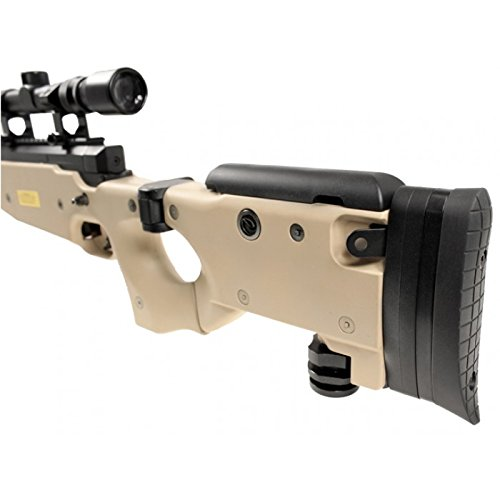 well mb08d l96 spring airsoft gun metal sniper fps-450 w/ 3-9x40 scope & bipod (tan)(Airsoft Gun)