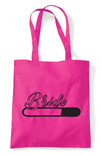 Bag Personalised Hen Party Loading Shopper Do Customised Tote Bride Fuschia 76Hgq