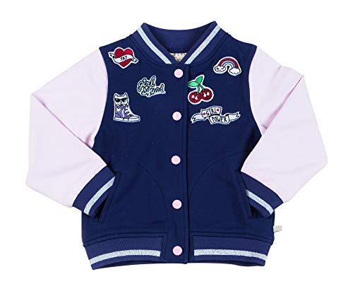 Kinderkind Girls Varsity Bomber Jacket : Sizes 2T-3T-4T-5T-6-7 -