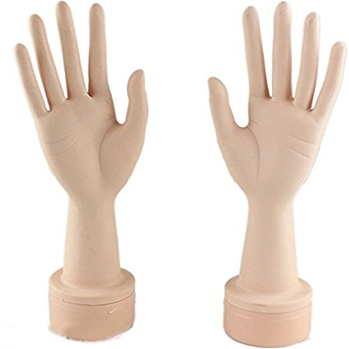 Eseewigs Practice Manicure Nails Hand and Practice Flexible Mannequin Hand Nail Display with Soft Fingers (A pair of hands) Qingdao Esee Hair Co. Ltd