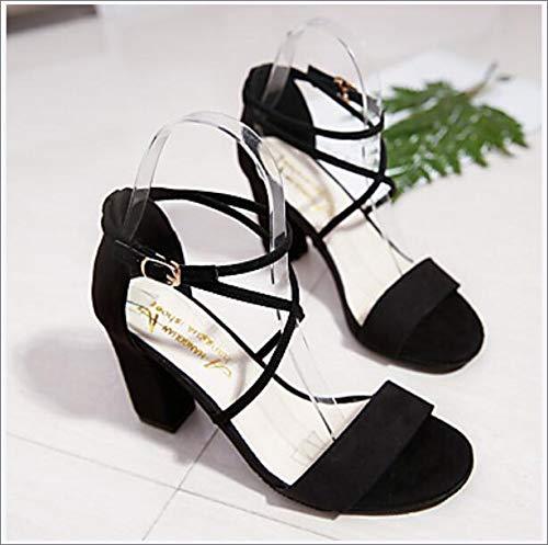 Women's Shoes PU(Polyurethane) Spring/Summer Comfort/Basic Pump Heels Chunky Heel Round Toe/Party & Evening,A,US5.5/EU36/UK3.5/CN35