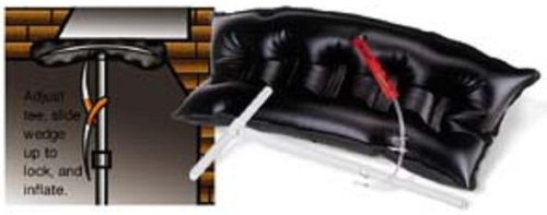 Fireplace draft stopper (large plug - fits most masonry fireplaces with dampers up to 38x16'')