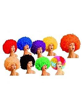 DISBACANAL Peluca Afro Colores - Naranja