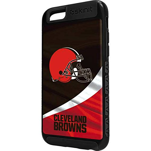Skinit NFL Cleveland Browns iPhone 6s Plus Cargo Case - Cleveland Browns Design - Durable Double Layer Phone Cover - Cleveland Browns Cover