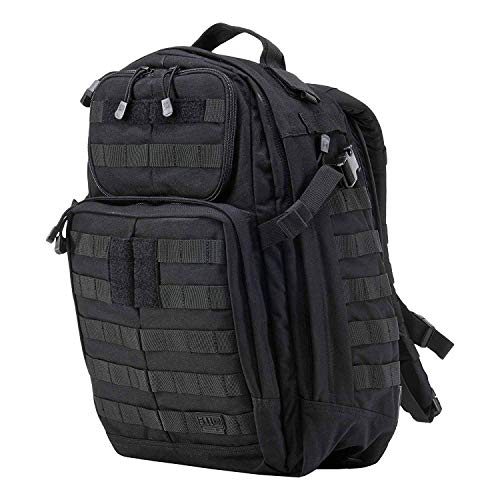 (5.11 Tactical Water Repellent Rush Outdoor Trekking Backpack (Black))
