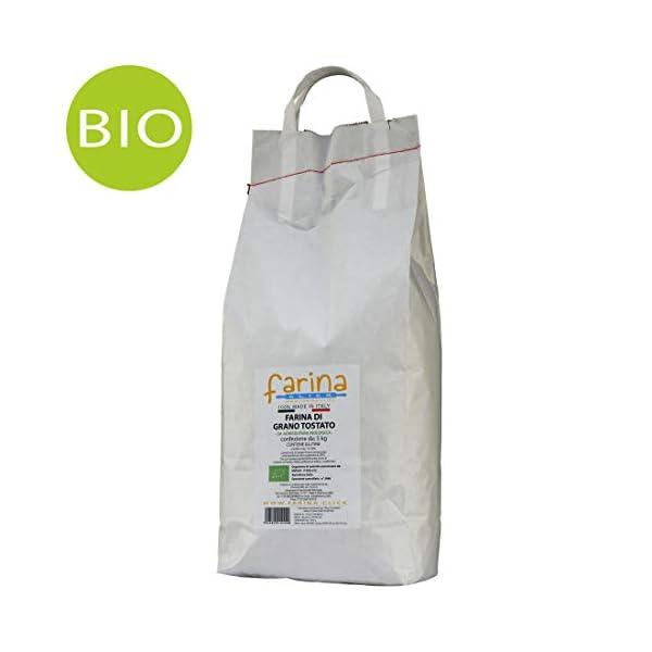 5 kg farina di grano arso biologica grano tostato italiano BIO di Puglia e Basilicata (confezione da 5 kg) 1 spesavip