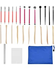 26pcs Polymer Clay Tools Ceramic Clay Indentation Tools, Dotting Tools Ball Stylus, Rubber Tip Pens for Pottery Sculpture, Rock Painting, Art Carving Embossing, Nail Art