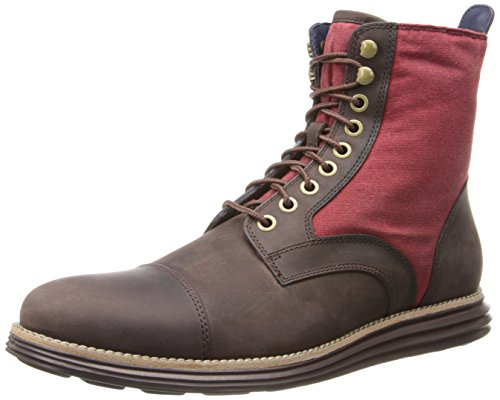 Cole Haan Men's Lunargrand Lace Combat Boot,Chestnut/Tango Red,7 M US (Cole Haan Lace Boot compare prices)
