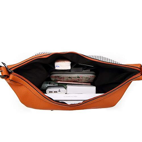 sacs capacité femmes sacs Designer célèbre fourre tout Orange de sac main à luxe Sentsreny grande à décontracté bandoulière marque tIxZqIvw