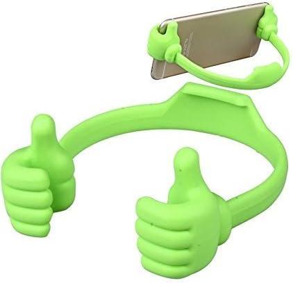 Hosaire Soporte de teléfono Celular Flexible Lindo Pulgar diseñado Soporte de Escritorio de Pantalla Plana para computadora Soporte de Pantalla para la mayoría de los iPad con teléfono móvil (Verde): Amazon.es: Hogar