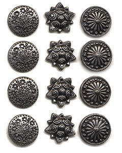 Making Memories Decorative Brads - Making Memories Decorative Brads round pewter package of 12