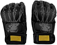 Dilwe Boxing Gloves, Half Finger Fighting Boxing Sparring Punching Kick Glovers Hand Wraps for Sports Training