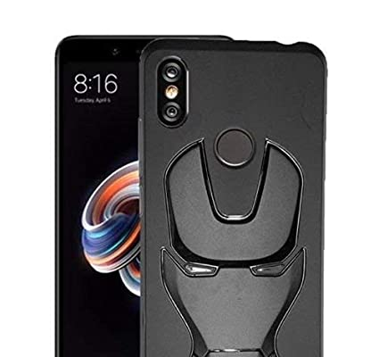 best service 7c6a0 4b9e3 INDIAPRO Full 360 Degree Protection Marvel Avengers Iron Man Rubberized  Coating Silicon Case for Redmi Note 5Pro (Black)