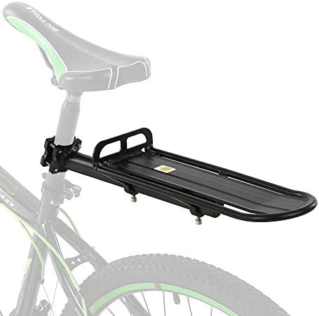 Bike Seat Support Rack Adjustable Bike Rear Rack Aluminum Bicycle Luggage Cycling Seatpost Cargo Rack for Luggage Cargo Carrier