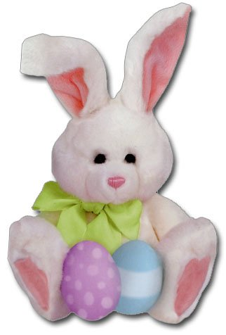 Plush Bunny Die Cut Easter Card