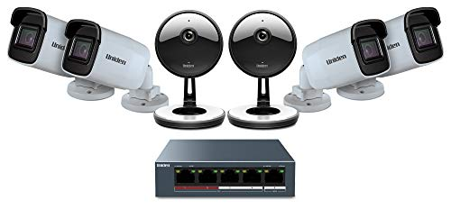Uniden (UC4402) 6-Camera Cloud Security System, White