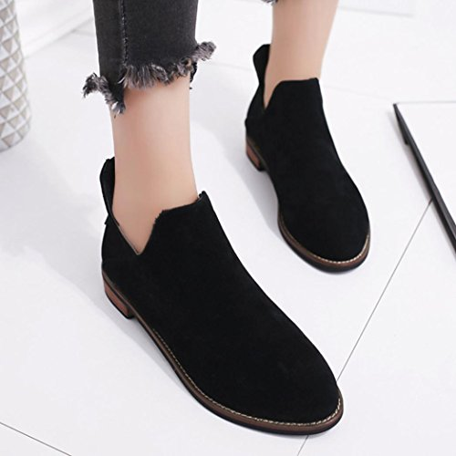 Ankle Warm Women Buckle Ladies Black erthome leather Martin Artificial Boots Solid Zip Shoes Boots zq6x0nn