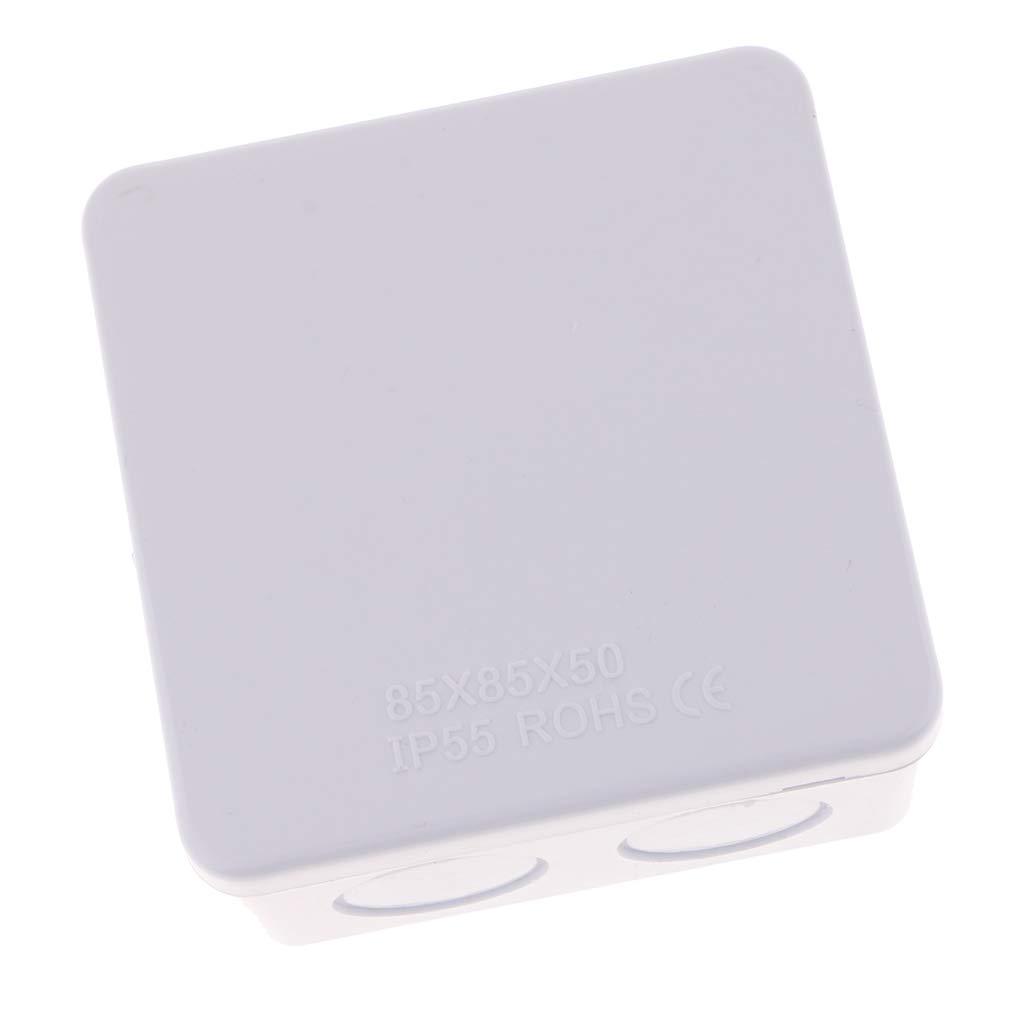 Sharplace Boitier De Jonction Ip65 Abs Imperm/éable Plastique Blanc 85 x 85 x 50mm
